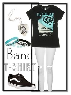 """""""ATL Band Shirt: Contest Entry"""" by haybeebaby on Polyvore featuring Topshop, Vans, bandtshirt and bandtee"""