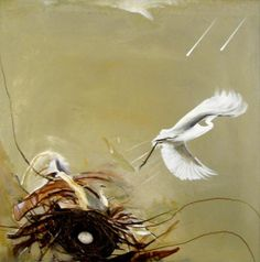 Brett Whiteley, Untitled (bird), 1978 - just finished a short article about Aussie artists and am kicking myself for never going to Brett Whiteley's Surry Hills studio. Australian Painting, Australian Artists, Australian Birds, Art Database, Indigenous Art, Art Auction, Animal Paintings, Bird Art, Modern Art