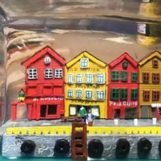 Bryggen, Bergen, dentro de botella, foto 2