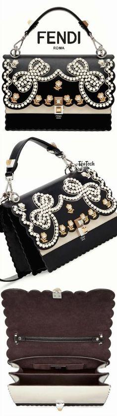 ❇Téa Tosh❇ Fendi Beautiful Bags, Beautiful Shoes, Designer Heels, Designer Bags, Embellished Purses, Handbag Accessories, Fashion Accessories, Branded Bags, Luxury Handbags