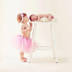 Love this pose with big sister: newborn,   sibling