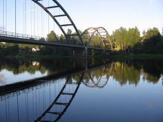 Brücke über den Klarälv nach Munkfors, Sweden