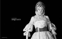 The Alexander McQueen Fall/Winter 2013-2014 campaign  Label: Alexander McQueen  Model: Edie Campbell  Photographer: David Sims