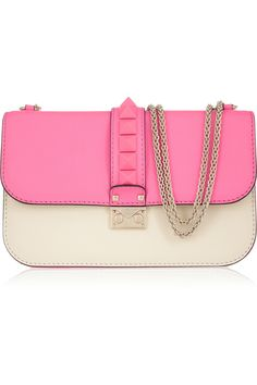 Valentino Glam Lock studded leather shoulder bag