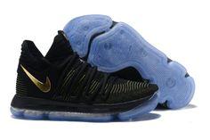 76548584db30 Nike KD 10 Black Yellow Gold Shoes New Adidas Shoes