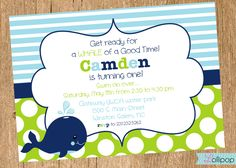 Whale Baby Shower Invitations - polandfarm.com