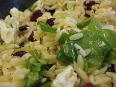 Favorite summer salad: Orzo, Lemon, Feta, Spinach, Cranberries, Walnuts/Pecans - Quinoa would be a nice sub for Orzo