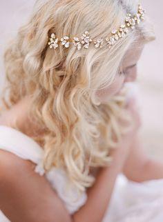 Jeweled headband perfection: http://www.stylemepretty.com/oregon-weddings/2015/09/04/romantic-seaside-bridal-boudoir-inspiration/ | Photography: Archetype Studio - http://archetypestudioinc.com/