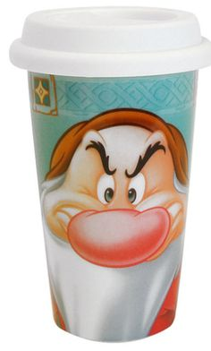 Disney Grumpy Mornings Travel Mug Disneyana