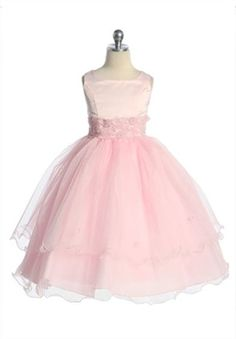 pink flower girl dress from adorable kids .com