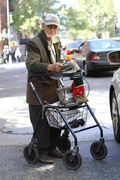 97yr old Irwin Corey spends all day panhandling (NYC).  He uses all the money to buy medical supplies for Cuban children.