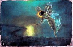 Painting Print On Canvas Ready to Hang Spirit of Night Grimshaw Fairy NEW!