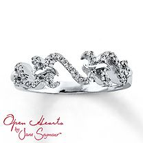 Open Hearts by Jane Seymour® Diamond Ring