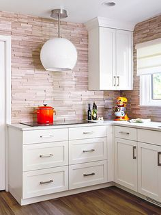 Add a neutral backsplash into your kitchen or bathroom remodeling plans for a modern style. These ideas will provide you with inspiration to change up your backsplash, but still coordinate with your dark or oak cabinets!