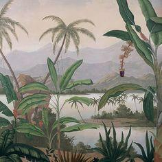 Paysages 200x220 - Mandalay couleur Panneau L200xH220 cm - 2 lés de 100 cm - Ultra mat