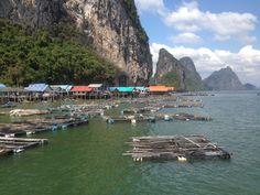 Muslim fishing village Thailand