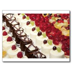 Kitchen Dining Cakes Colorful Photograph Destiny Postcard