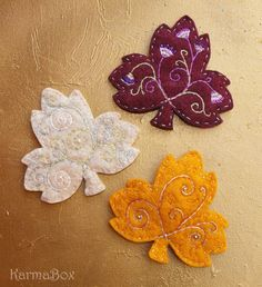 Embroidered Autumn Leaves                                                       …