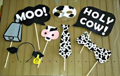 Cow Print - Photo Booth Props