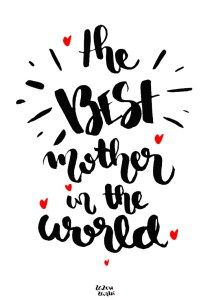 Printable The best mother in the world