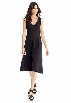 Eileen Fisher Back V-Neckline Jersey Dress