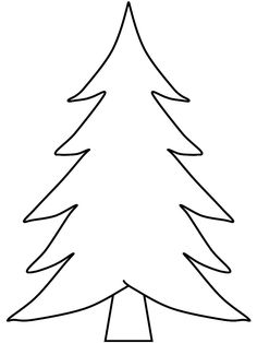 Black And White Christmas Tree Outline Related coloring pagesmerry ...