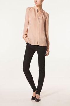 Silk shirt - great color