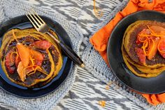 ZEN Turmeric pancakes w/blood orange syrup (Gluten-free, dairy-free, egg-free) — Life under a lemon tree