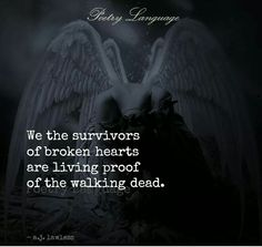 This..this for everyone who loved..lost..& is a living prooof of walking dead..