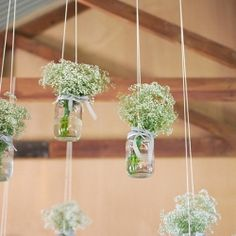 baby's breath and old jars!