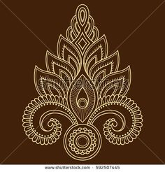 Draw Flower Patterns Mehndi flower pattern for Henna drawing and tattoo. Decoration in ethnic oriental, Indian style - comprar este(a) imagem vetorial de banco no Shutterstock e encontrar outras imagens. Border Embroidery Designs, Embroidery Patterns, Mandala Indiana, Mehndi Flower, Henna Drawings, Mehndi Style, Japanese Sleeve Tattoos, Plant Drawing, Mandala Design