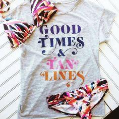 Good Times & Tan Lines! #JunkFoodClothing