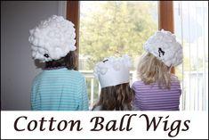 Cotton Ball Wigs!