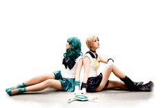 Sailor Neptune & Sailor Uranus!!!! I've always wanted to be Neptune! #Cosplay