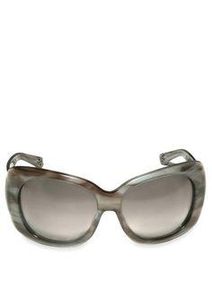 Oscar De La Renta - Thick Frame Sunglasses by OSCAR DE LA RENTA