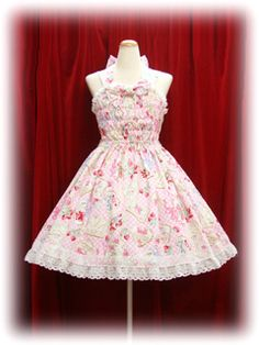 Baby the Stars Shine Bright Strawberry Letters Print Princess Shirring JSK (pink) by onmyou_dix, via Flickr