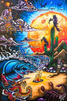 Drew Brophy Signature Surf Style Art by Drew Brophy