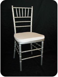 Silver Ballroom Chairs (Chivari Chairs) for Rent!