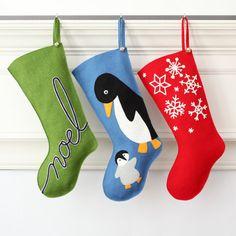 Media de la Navidad fieltro de lana hecho a mano: Celebrar