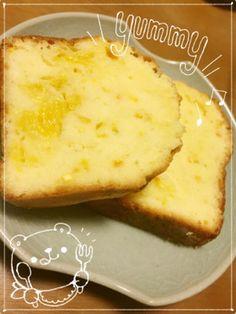 オレンジパウンドケーキ 砂糖を10~20%減らすといいかもしれません。 簡単素朴でおいしいです。