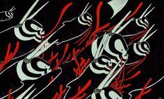 """Fluxo/Flow"" from the Suma Series (2008), original painting by Bruno 9li."