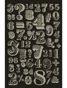 It's techically gift wrap, but this medley of silver metallic numbers on black is so pretty, you might want to hang it on your wall rather than wrap a gift with it. This decorative gift wrap sheet is hand-screend by master printmaker, Charles Lahti. Sheet measures, 25 × 38.″ $20.00