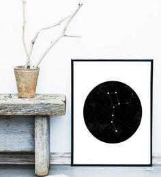 Constellation Print Night Sky  Printable Art by exileprints