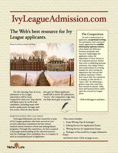 Interested in getting into an ivy league? 10 points!?