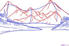 draw lake mountains step mountain easy pencil drawing landscape drawings dragoart google sketch scenery simple outline landscapes nature ground resultado