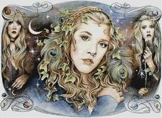 Mother, Maiden, Crone Pictures, Images and Photos John Mcvie, Members Of Fleetwood Mac, Wise One, Pagan Gods, Triple Moon Goddess, Stevie Nicks Fleetwood Mac, Candle Labels, Old Soul, Beautiful Voice