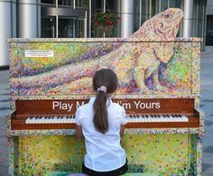 Play Me, I'm Yours: Colorful Pianos Left in Public Spaces - Neatorama