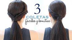 Peinados con coletas fáciles y elegantes