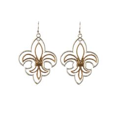 Fleur De Lis Earrings Cut Out G