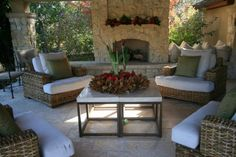 Great outdoor living decor...love the chairs!